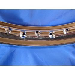 llanta de acero cromado de 1,85 x 21 de 36 radios