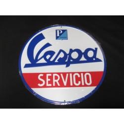 vespa servicio chapa decorativa en relieve de 30 cm de diametro