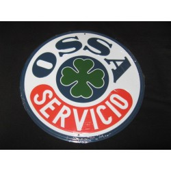 ossa servicio chapa decorativa en relieve de 30cm de diametro