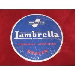 lambretta chapa decorativa en relieve de 30cm de diametro