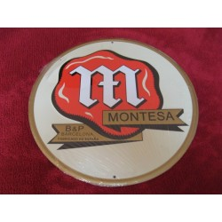 montesa chapa decorativa en relieve de 30cm de diametro