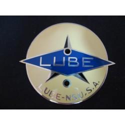 lube emblema metalico