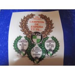 puch de campo adhesivo campeona España 1980
