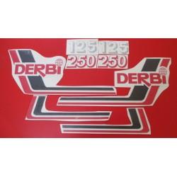 derbi RC y CR 125 y 250 juego de adhesivos tipo 5