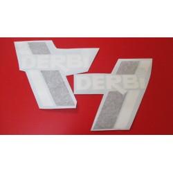 derbi TT y TT8 extra juego de adhesivos blanco