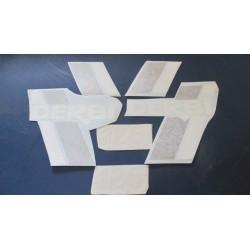 derbi TTS 9 juego de ahdesivos blanco