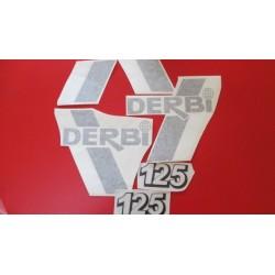derbi TTS 9 juego de adhesivos negro