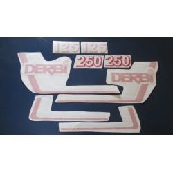 derbi RC y CR 125 y 250 juego de adhesivos tipo 2