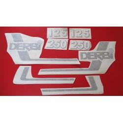 derbi RC y CR 125 y 250 juego de adhesivos tipo 3