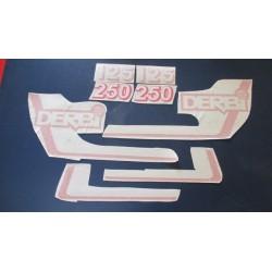 derbi RC y CR 125 y 250 juego de adhesivos tipo 4