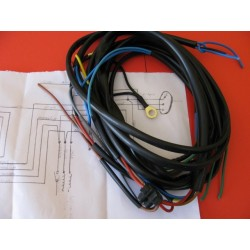 bultaco frontera sistema de cableado con esquema