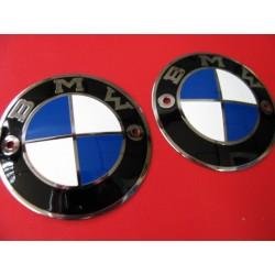bmw emblemas de chapa de 70 mm pareja