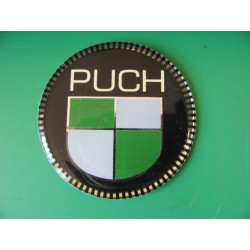 puch emblema en relieve de 50 mm de diametro