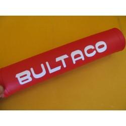 bultaco protector manillar trial rojo/blanco con relleno indeformable
