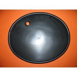 portanumero negro con agujero pasacable