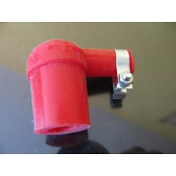 pipa de bujia de silicona roja