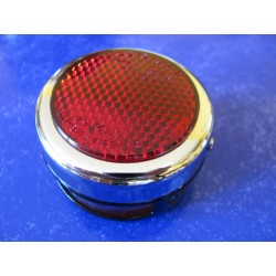 taillight metallic (65 x 40 mm) with 2 lamp holder for motorcycles fron 40 50 60 and 70 years