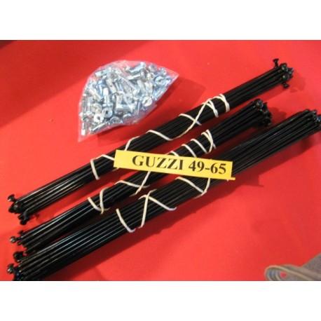 Radios de guzzi 49, 65 en negro como de origen