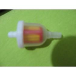 filtro de gasolina redondo traslucido macarron de 6