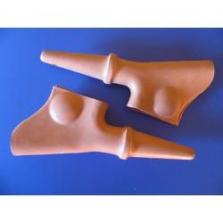 ossa tr 80 protectores (2) de maneta naranjas