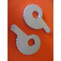 montesa enduro y cappra tensores (2) de cadena en dural para eje 15 mm
