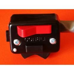 interruptor rectangular negro para fijar en el manillar o atornillar al soporte de maneta Amal SIN CABLEADO ELECTRICO