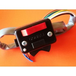 interruptor rectangular negro para fijar en el manillar o atornillar al soporte de maneta Amal CON CABLEADO ELECTRICO