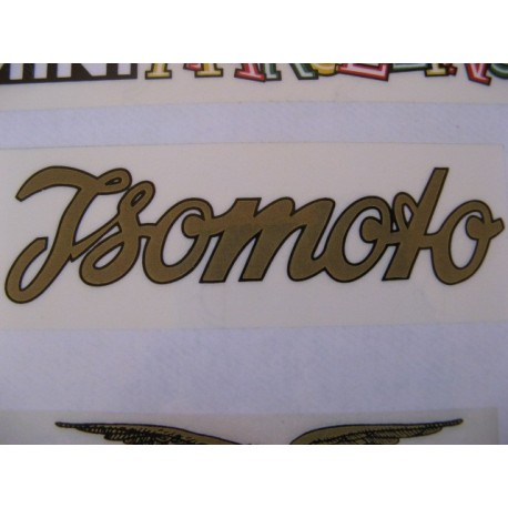 Isomoto, adhesivo oro/negro