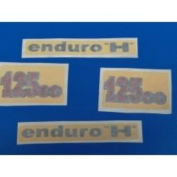 montesa enduro 125 H juego de 4 pegatinas de las tapas laterales