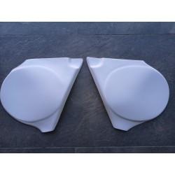 bultco pursang Mk9 y MK10 125 250 y 360 tapas laterales plastico blanco