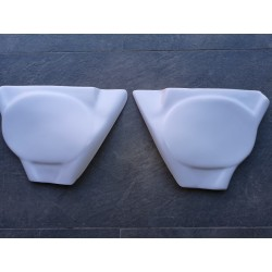 bulto pursang Mk5 MK6 MK7 Mk8 todas pareja de tapas laterales de plastico blanco