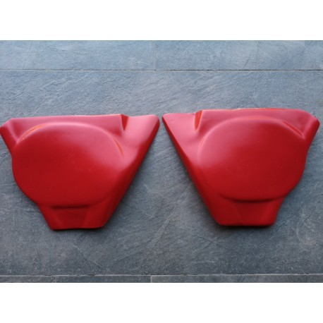 bultaco pursang Mk5 MK6 MK7 MK8 pareja de tapas laterales de plastico rojo