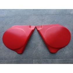 bultaco pursang MK9 MK10 125 250 370 pareja tapas laterales plastico rojo