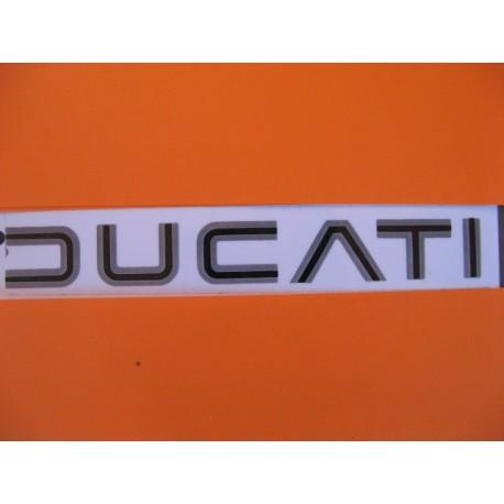 ducati, emblema deposito gris/negro