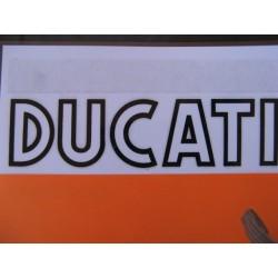 ducati, emblema depósito blanco/negro