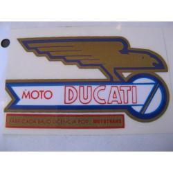 ducati mototrans, emblema depósito lado derecho
