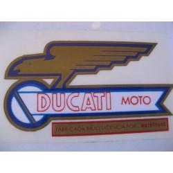 ducati mototrans, emblema depósito lado izquierdo