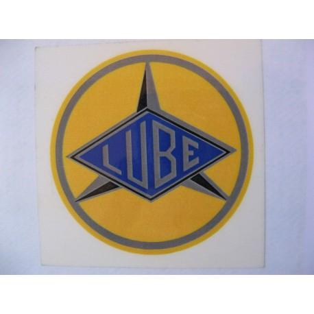 lube, emblema depósito redondo