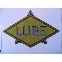 lube, emblema del depósito rombo oro