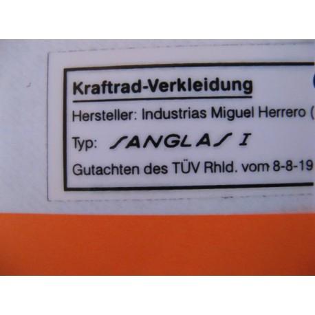sanglas, homologación alemana