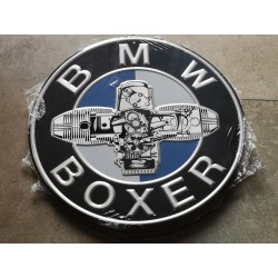 bmw boxer chapa decorativa en relieve de 30 cm