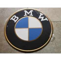 bmw chapa decorativa en relieve de 30cm de diametro