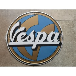 vespa chapa decorativa en relieve de 30 cm de diametro