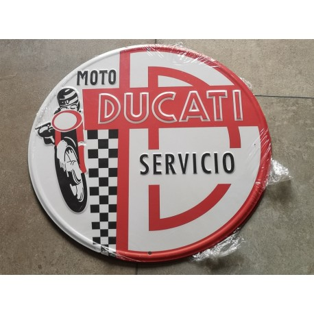 ducati servicio chapa decorativa en relieve 30 cm diametro