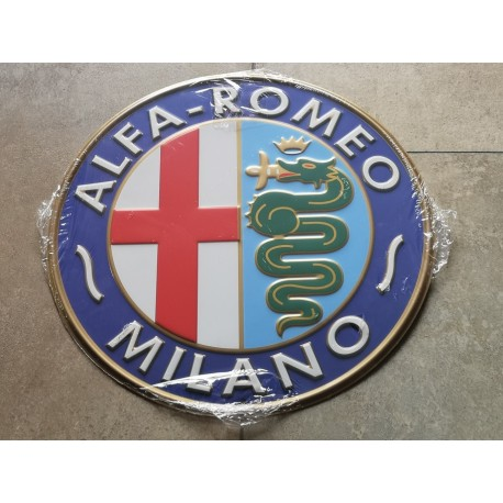 alfa romeo chapa decorativa en relieve 30 cm diametro