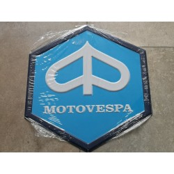 motovespa chapa decorativa en relieve 35 cm
