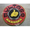 bultaco roja chapa decorativa en relieve 30 cm diametro