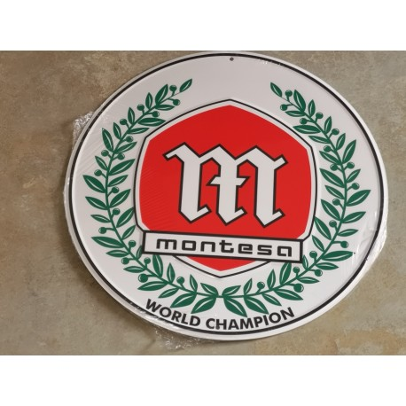 montesa campeona chapa decorativa en relieve de 30 cm