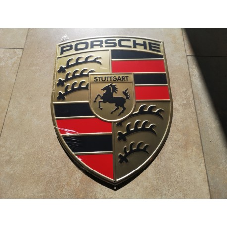 porsche chapa decorativa en relieve de 39 x 30 cm