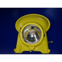 portaaro universal de plastico amarillo con cristal y optica de ciclomotor y moto de enduro